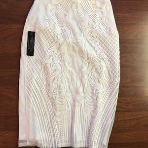 White bebe pencil skirt